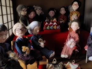 クリックすると拡大できます→◎亀山宿のひな祭り人形