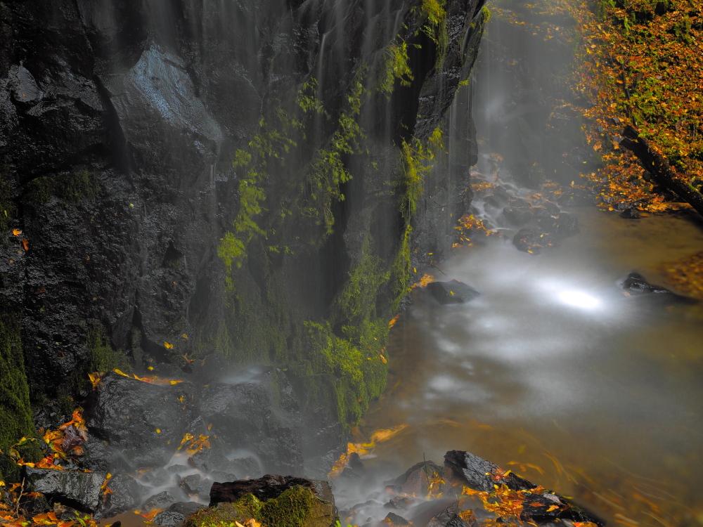 クリックすると拡大できます→◎秋色の不動滝